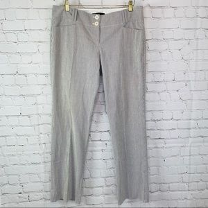 The Limited Drew Fit Striped Pants Gray White 14